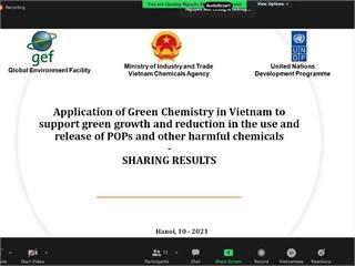 """Hội thảo """"Chia sẻ kinh nghiệm về Hoá học xanh tại doanh nghiệp - lồng ghép hóa học xanh vào bài giảng tại trường Đại học"""""""