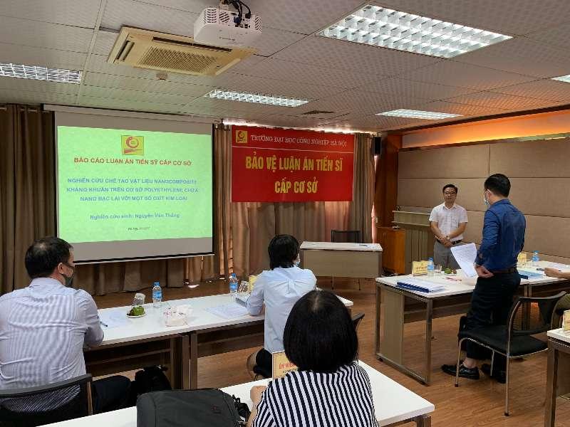 Đánh giá luận án tiến sĩ cấp cơ sở cho nghiên cứu sinh Nguyễn Văn Thắng - Chuyên ngành Kỹ thuật Hoá học